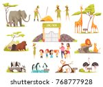 cartoon set of happy children... | Shutterstock .eps vector #768777928
