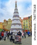 Small photo of WROCLAW, POLAND – DECEMBER 3, 2017: Christmas market in Old Town in Wroclaw of Advent Sunday.