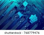 circuit board. electronic... | Shutterstock . vector #768779476