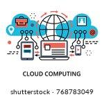 modern flat thin line design...   Shutterstock .eps vector #768783049