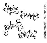 handwritten calligraphy with... | Shutterstock .eps vector #768784444