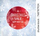 christmas sale stylish poster ...