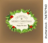 dark background with merry... | Shutterstock .eps vector #768787960
