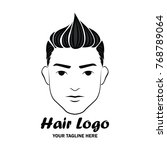 man hair logo with text space... | Shutterstock .eps vector #768789064