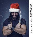 bad santa  funny male portrait  ... | Shutterstock . vector #768794608