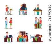 bad habits poster  illustration.... | Shutterstock . vector #768797680