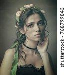 slavic beauty  retro styled... | Shutterstock . vector #768799843