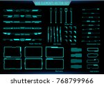 hud green futuristic elements... | Shutterstock .eps vector #768799966