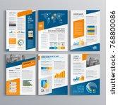 business brochure template... | Shutterstock .eps vector #768800086
