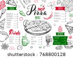 italian food menu for... | Shutterstock .eps vector #768800128