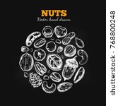 nuts and seeds collection.... | Shutterstock .eps vector #768800248