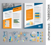business brochure template... | Shutterstock .eps vector #768800344