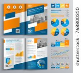 business brochure template... | Shutterstock .eps vector #768800350
