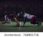 american football players are... | Shutterstock . vector #768801718