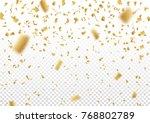 falling vector confetti on... | Shutterstock .eps vector #768802789