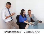 smart employees preparing for...   Shutterstock . vector #768803770