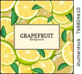 square label on citrus... | Shutterstock .eps vector #768804610