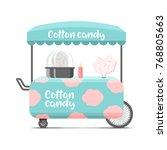 cotton candy street food cart.... | Shutterstock . vector #768805663