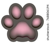 iconl of the pink paw of an...