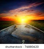 Asphalt The Old Road Into A...
