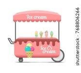 ice cream street food cart.... | Shutterstock . vector #768806266