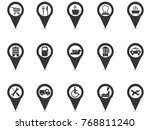 black location place gps pin... | Shutterstock .eps vector #768811240