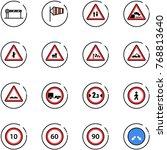 line vector icon set   barrier... | Shutterstock .eps vector #768813640