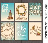 set of posters or flyers for... | Shutterstock .eps vector #768814900