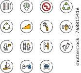 line vector icon set   ski... | Shutterstock .eps vector #768815416