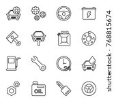 car service icon set. various... | Shutterstock .eps vector #768815674