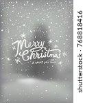 holidays handwritten typography ... | Shutterstock .eps vector #768818416