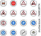 line vector icon set   sign... | Shutterstock .eps vector #768818974