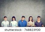 group of sad unhappy people men ... | Shutterstock . vector #768823930