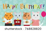 happy birthday greeting card... | Shutterstock .eps vector #768828820