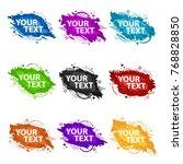 set grunge splash banners.... | Shutterstock .eps vector #768828850