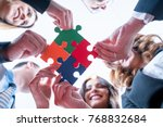 group of business people puting ... | Shutterstock . vector #768832684