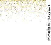 christmas golden confetti.... | Shutterstock .eps vector #768833176