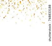 christmas golden confetti....   Shutterstock .eps vector #768833188