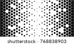 black hexagons diminishing to... | Shutterstock .eps vector #768838903