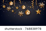 christmas background with... | Shutterstock .eps vector #768838978