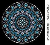 mandala vector art  australian... | Shutterstock .eps vector #768839260