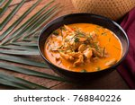 thai curry red soup thailand... | Shutterstock . vector #768840226