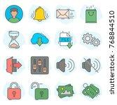 web ui icon colored