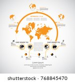 business infographic layout | Shutterstock .eps vector #768845470