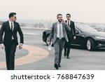 businessman walking with... | Shutterstock . vector #768847639