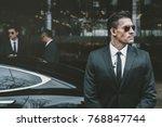 bodyguard standing at... | Shutterstock . vector #768847744