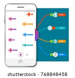 voice recognition infographics. ... | Shutterstock .eps vector #768848458