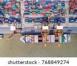 container container ship in...   Shutterstock . vector #768849274