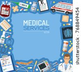 medical services banner and...   Shutterstock .eps vector #768849454