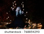 portrait of blonde girl in the... | Shutterstock . vector #768854293